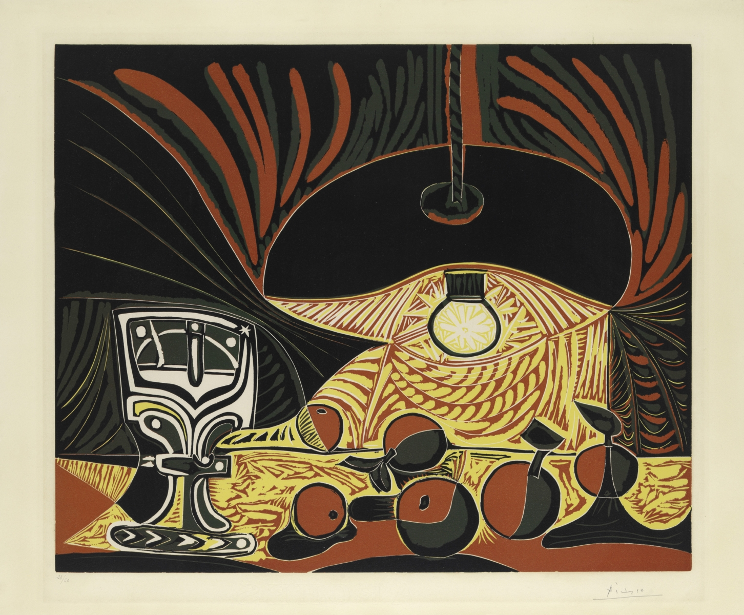Picasso_Still Life with Glass Under the Lamp